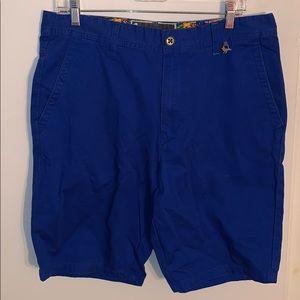 Modern Amusement Blue Khaki Shorts 34